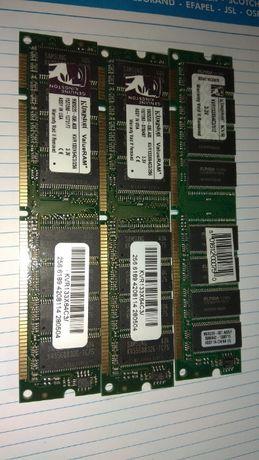 Memorias RAM SDRAM, DDR e DDR2 64M a 1G