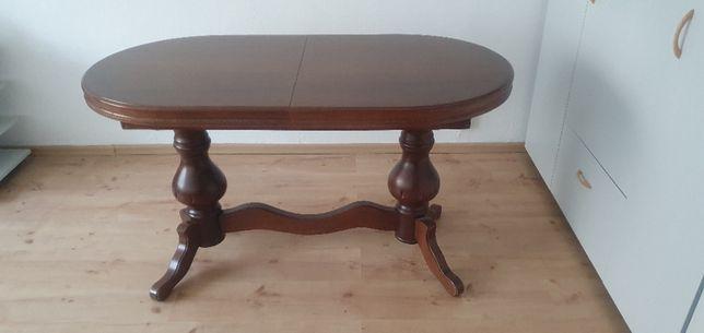 stół owalny rozkładany drewniany jadalnia salon