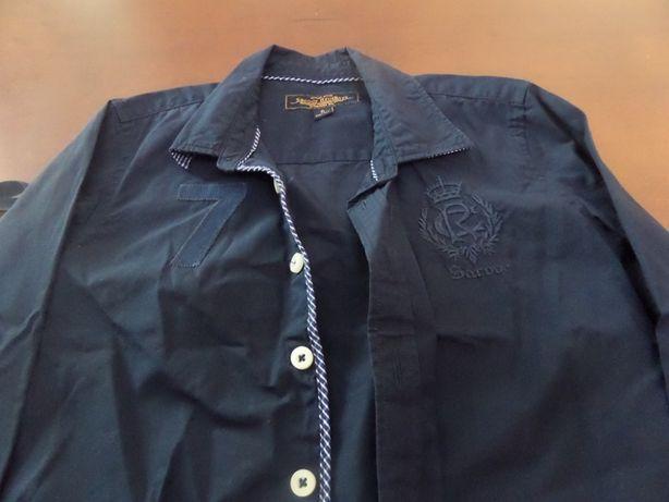 Camisa Sacoor azul escura 6 anos
