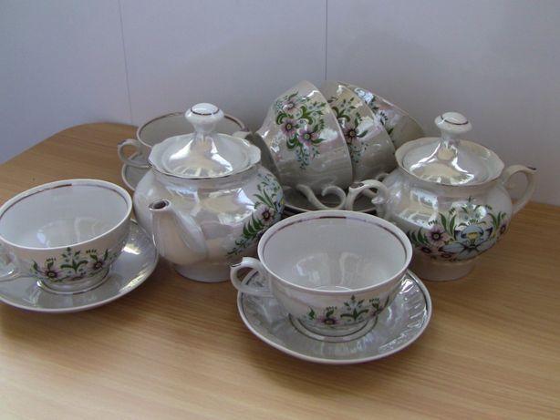 Чайный сервиз перламутровый на 6 персон