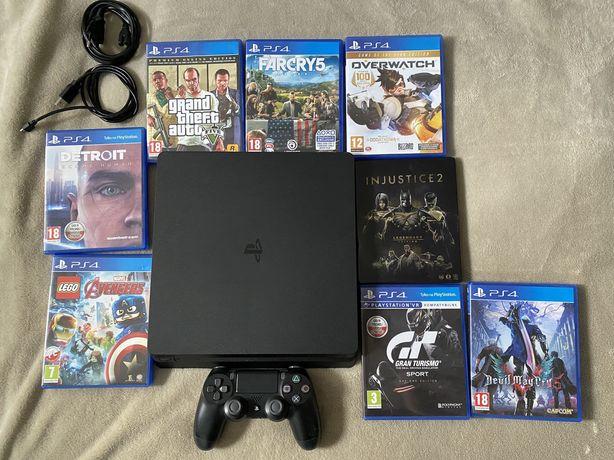 Konsola PlayStation 4 Slim + 8 Gier