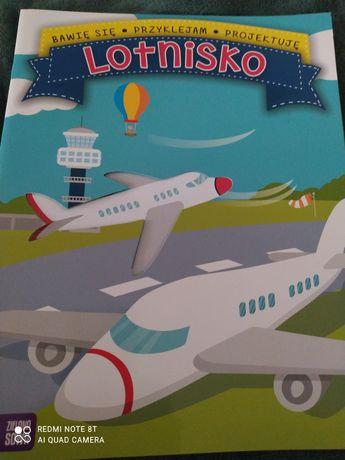 Książeczka  Lotnisko przyklejanie i projektowanie