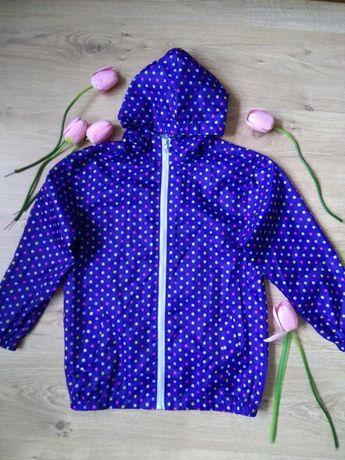 Лёгкая голубая ветровка avenue/на рост 134-140 см/куртка с капюшоном