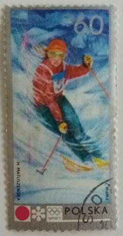 Znaczki pocztowe, Polska 1972,XI Zimowe Igrzyska Olimpijskie w Sapporo