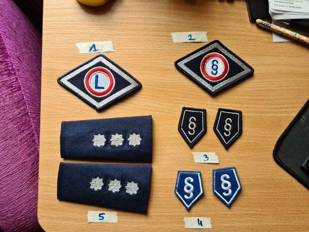 Pagony, korpusowki i emblematy Policja