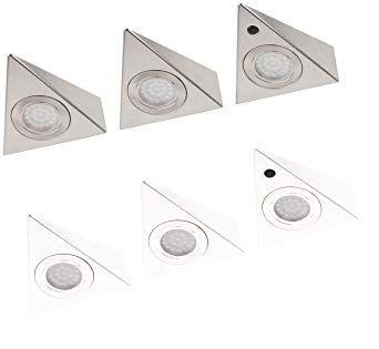 Lampki LED Do Zabudowy - 3 Sztuki - Białe - NOWE