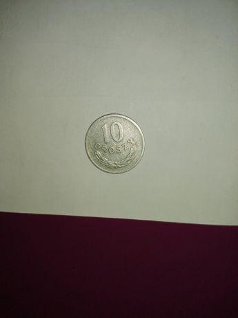 Moneta destrukt 10 gr z 1969r