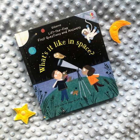 Lift-the-Flap First Q&A What's it like in Space? Usborne