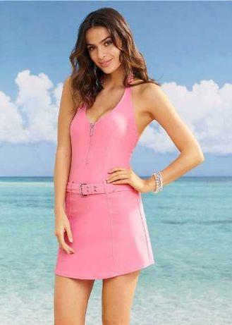 (30) Różowa sukienka plażowa z majtkami 40/42 NOWA