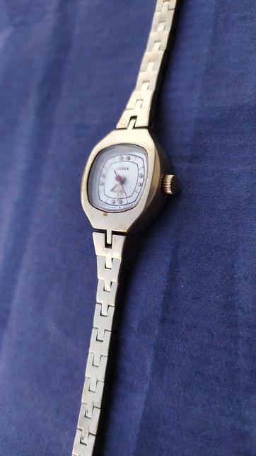 Часы Чайка позолоченные женские жіночий годинник