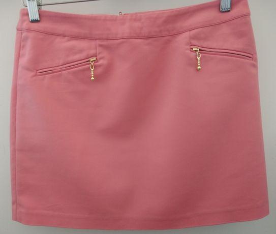 Spódnica mini H&M rozmiar 38 koralowa