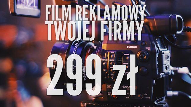 Film reklamowy za 299 zł + pakiet social media