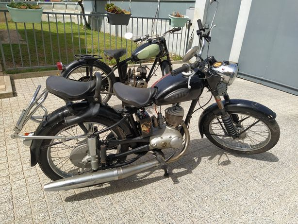 DUAS: MZ RT 125cc de 1961 e Monet Goyon 100cc 1956 TROCO