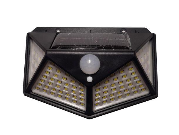 naświetlacz/halogen LED solarny (100 diod) | czujnik ruchu+zmierzchu