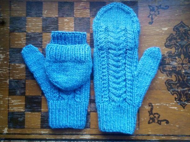 Варежки вязанные рукавичкі ручної роботи ручной работы трансформери