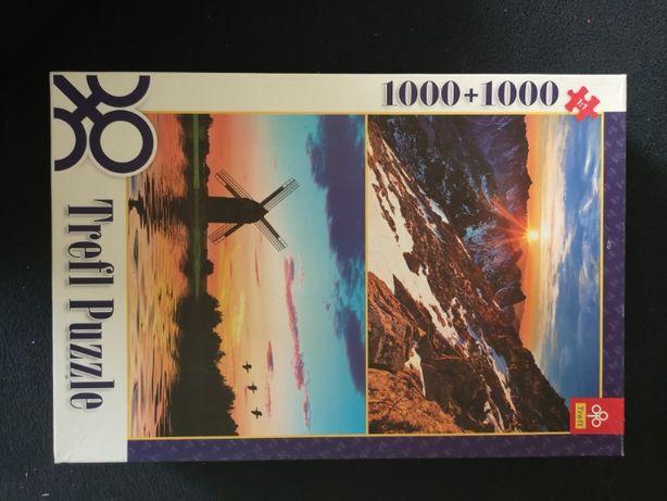 Trefl 1000+1000 elementów - 29105 Widok z Rysów /Krajobraz o zachodzie