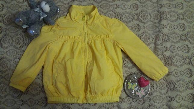 Новая курточка-ветровка Глория джинс для девочки р.2