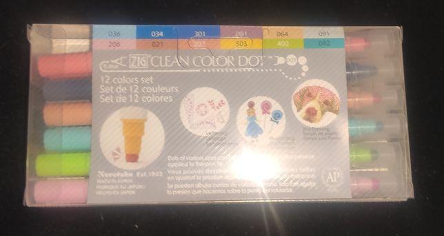 Conjunto de 12 canetas Zig Clean Color Dot