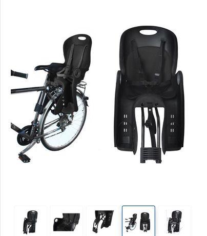 Велокресло детское Сидіння на ровер Чорне Сиденье Крісло