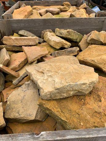 KAMIEŃ PIASKOWIEC Żółty Kamień Naturalny Elewacyjny