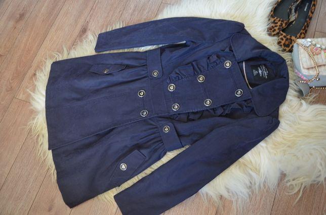 ATMOSPHERE_Granatowy płaszcz na guziki_40