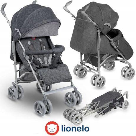 Nowy wózek spacerowy spacerówka parasolka LIONELO IRMA szary
