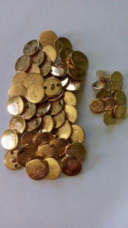 Вінтажні металеві золотисті гудзики