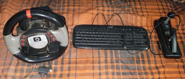 Kierownica + zestaw PC/PS