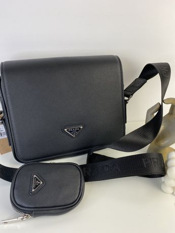 Torebka listonoszka Prada Pochette premium luksusowa w pudełku