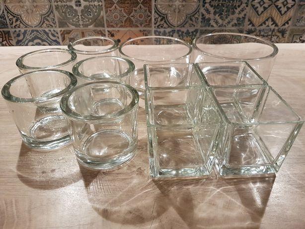 Kolekcja pojemników ze grubego szkla