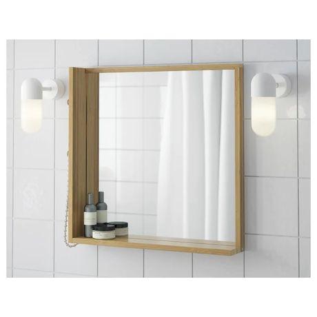 Ragrundr IKEA zestaw lustro, stojak na papier. Stan idealny. Bambus.