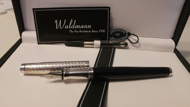 Waldmann Tuscany ekskluzywne pióro wieczne z tłoczkiem srebro 925