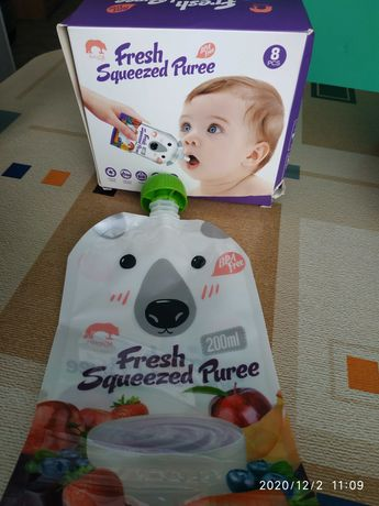 Дой-паки, паучи, пакеты для детского питания многоразовые