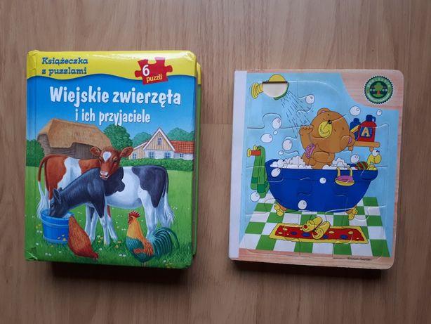 2 książeczki z puzzlami