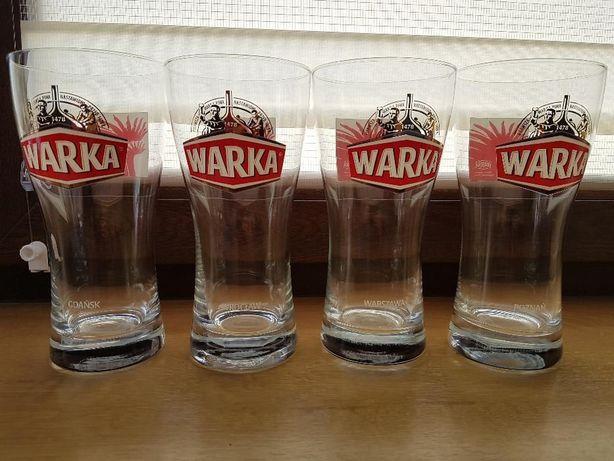 Kolekcja 4 unikalnych szklanek WARKA