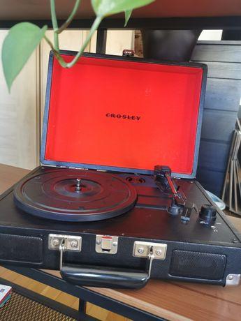 Gramofon Crosley Cruiser Deluxe czarny czerwony