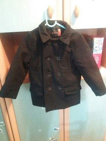 Płaszcz chłopiec czarny elegancki 3-4 lata