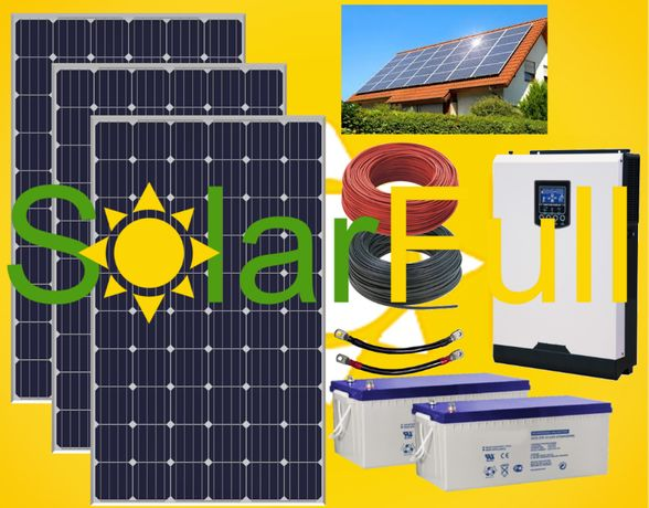 Kit – 3.000w habitação painel fotovoltaico solar pico 6 kw Prd. 825wh