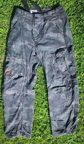 Spodnie Airborne Vintage Surplus Czarne Black Camo