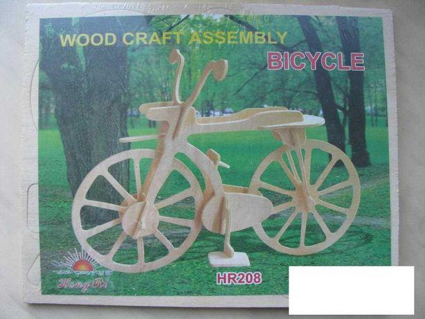 Игрушка Деревянный 3D конструктор Велосипед