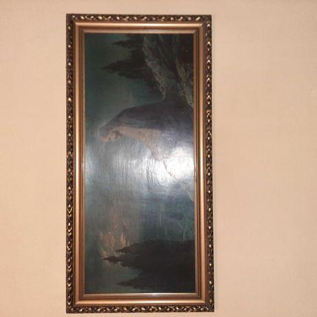 Obraz antyk 100 letni Jezus w ogrodzie oliwnym