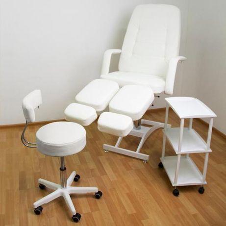 Кресло для педикюра (стул мастера+тележка) набор