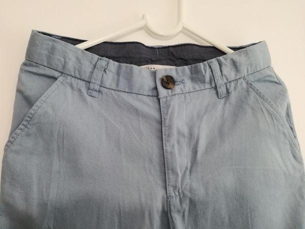 H&M r.134 niebieskie spodnie NOWE!