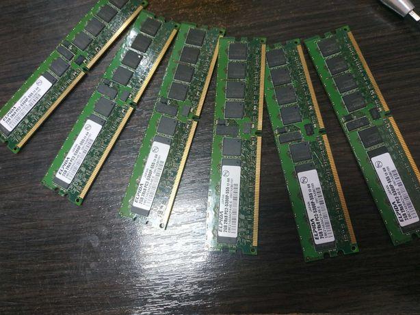 DDR2 pc2 5300p серверная 2Rx8 2gb