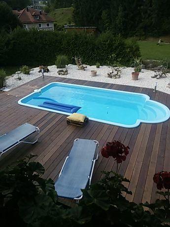 BASEN ogrodowy kąpielowy poliestrowy gotowy laminat 6x3 PRODUCENT