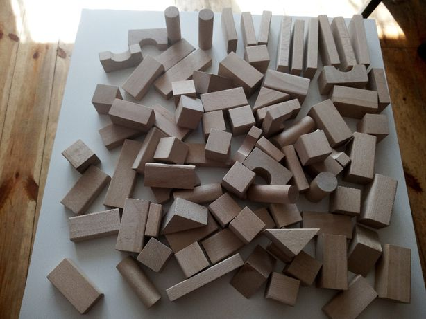 Klocki drewniane edukacyjne naturalne...