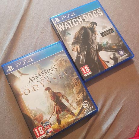 Zestaw gier PS4.  Assasins Creed Odyssey i Watch Dogs PL