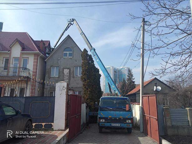 Автовышка 25 метров заказать аренду в Одессе