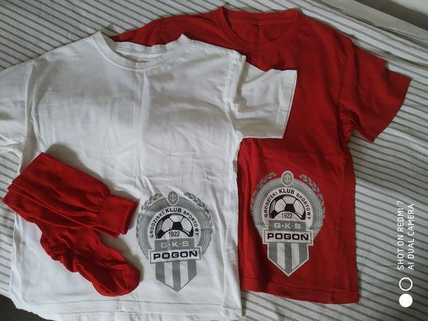 Koszulki piłkarskie Kinder Pogoń Grodzisk Mazowiecki+ getry