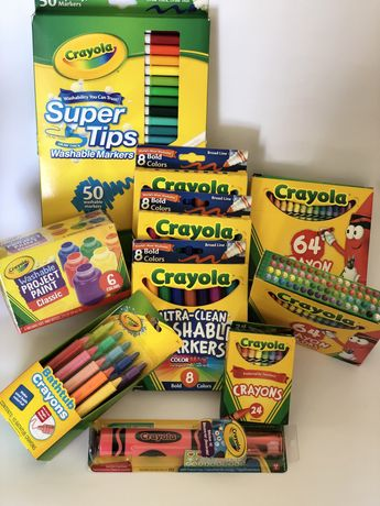 Крайола crayola олівці фломастери фарби карандашы краски